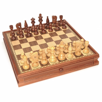 "RUSSIAN CHESS CHECKERS 15"" SET"
