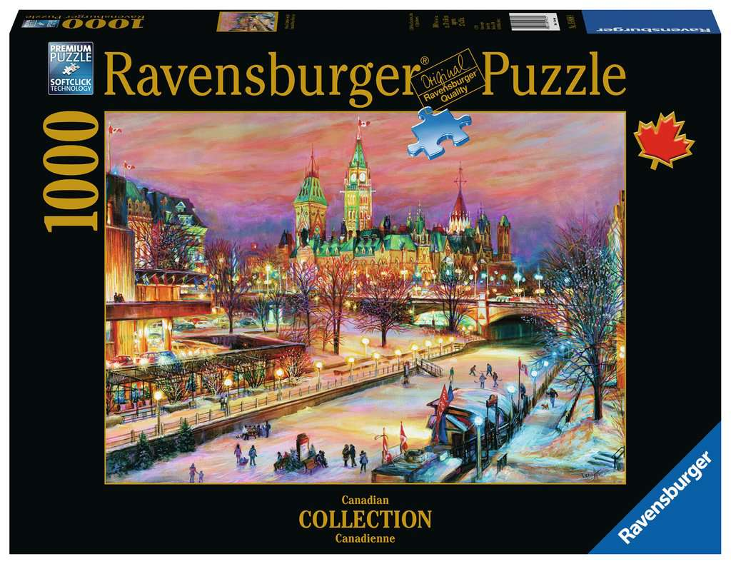 Ravensburger Puzzles (1000): Canadian Collection- Ottawa Winterlude Festival