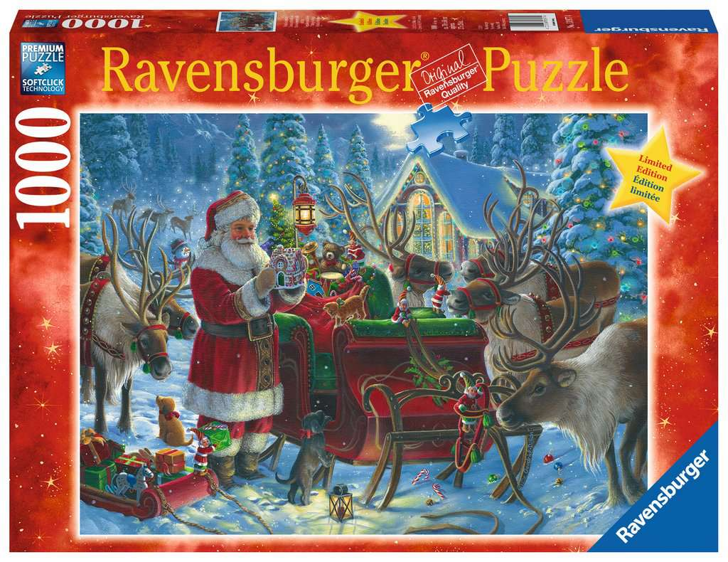 Ravensburger Puzzles (1000): Packing the Sleigh [Damaged]
