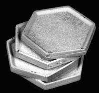 Reaper Bases: 25mm Hex Metal Bases (3)