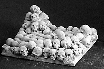 Reaper Bases: 40mm Square Metal Base Skull Pile(2)