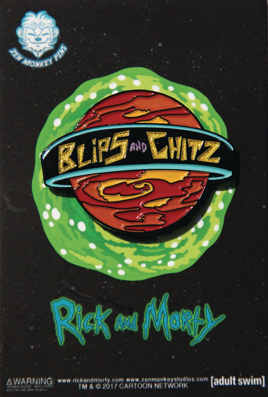 Rick and Morty: Blips and Chitz Lapel Pin
