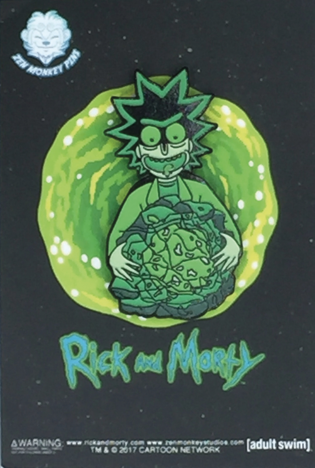 Rick and Morty: Glow In The Dark Ricks Isotope Lapel Pin