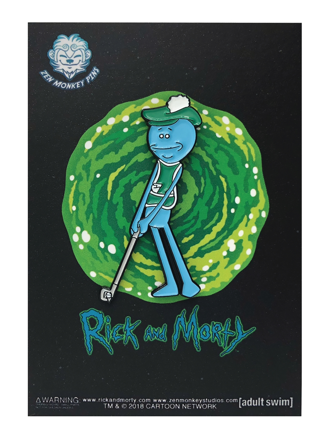 Rick and Morty: Golfing Meeseeks Lapel Pin