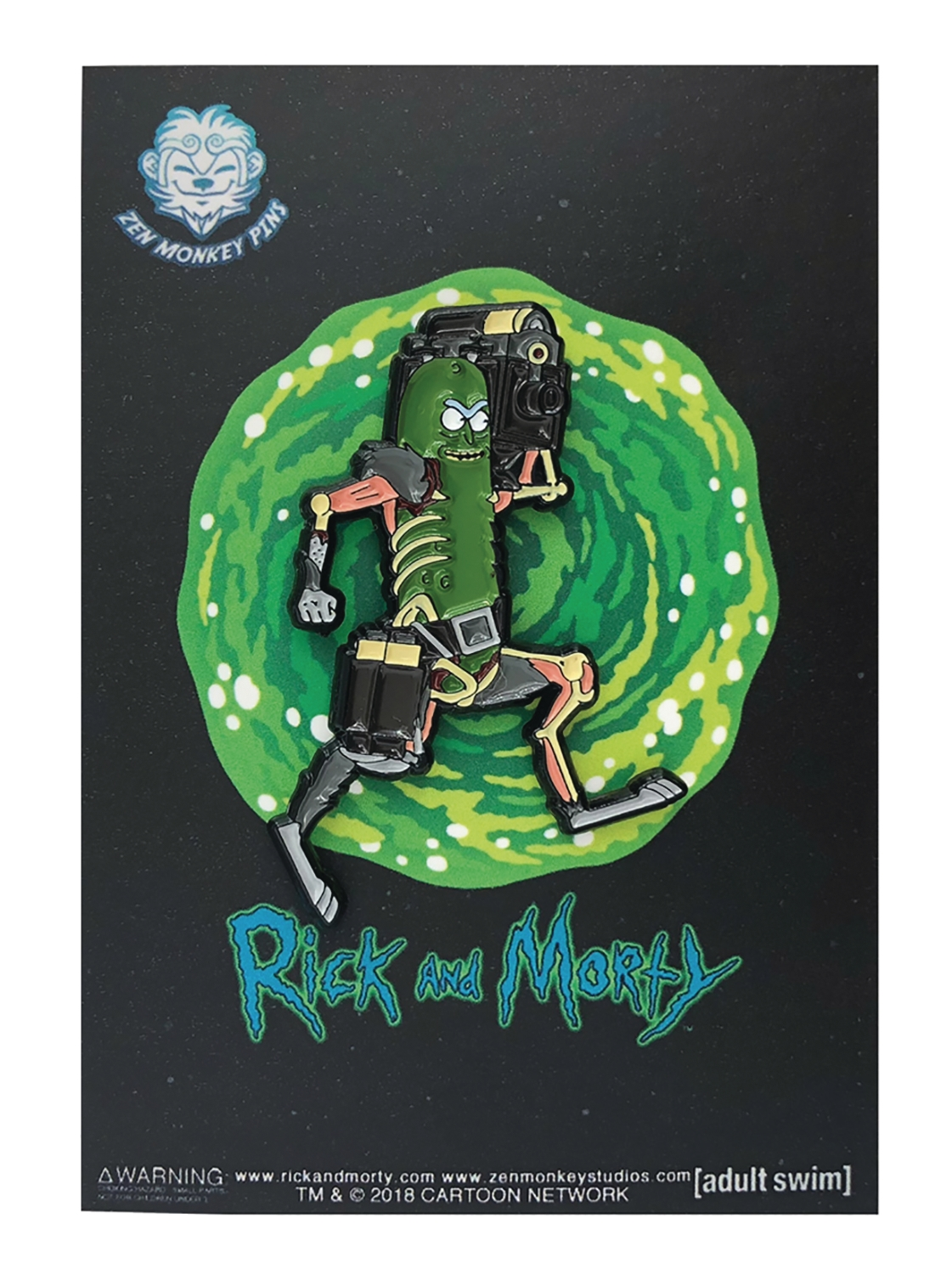 Rick and Morty: LASER GUN PICKLE RICK PIN