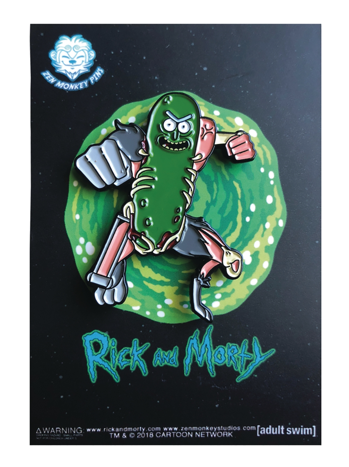 Rick and Morty: LEAPING PICKLE RICK PIN