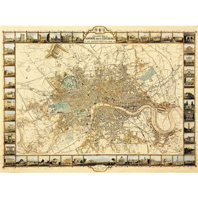 Ricordi Arte Puzzles: Plan Of London