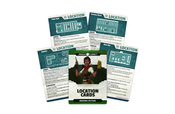 Roleplaying Cards: Modern Setting Location Cards