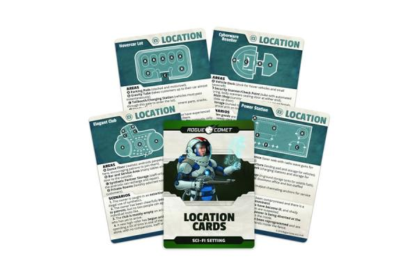 Roleplaying Cards: Sci-Fi Setting Location Cards