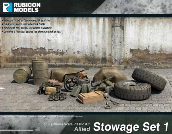 Rubicon Models (28mm): Allied Stowage Set 1