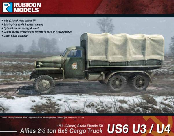 Rubicon Models (28mm): Allies 2.5 ton 6x6 Cargo Truck US6 U3/U4