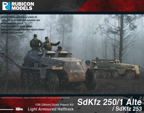 Rubicon Models (28mm): German SdKfz 250/1 Alte/SdKfz 253