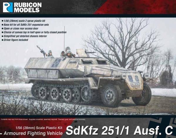 Rubicon Models (28mm): German SdKfz 251/1 Ausf C