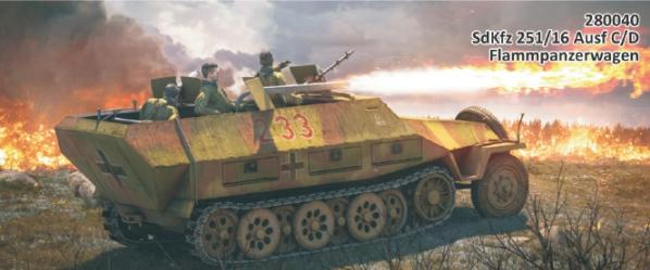 Rubicon Models (28mm): SdKfz 251/16 Ausf C/D (EXPANSION KIT)