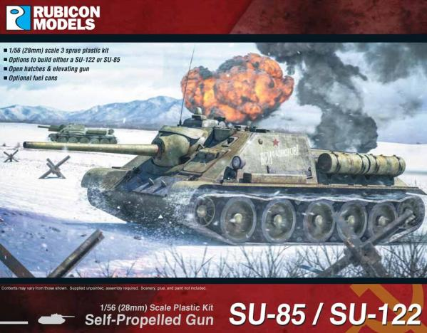 Rubicon Models (28mm): Soviet SU-85/SU-122 SPG