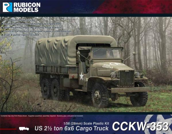 Rubicon Models (28mm): US 2.5 ton 6x6 Cargo Truck CCKW-353