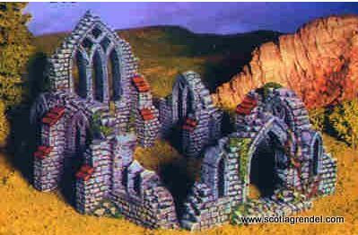 Scotia Grendel: 28mm Fantasy Terrain: Ruined Cathedral