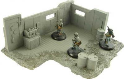 JR Miniatures - 28mm Sci-Fi Terrain: Ruined Outpost #JRM7032