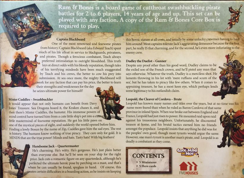 Rum & Bones: Mercenaries Promos Set #1