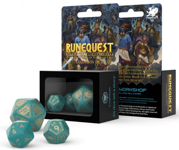 RuneQuest Turquoise & Gold Expansion Dice Set