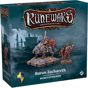 RuneWars Miniatures Game: Baron Zachareth Hero Expansion