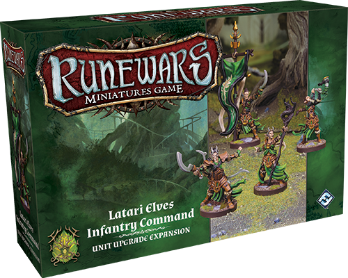 RuneWars Miniatures Game: Latari Elves Infantry Command