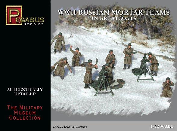 Pegasus Hobbies WWII 1/72: Russian Mortar Teams in Greatcoats