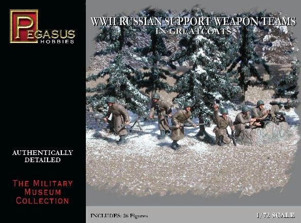 Pegasus Hobbies WWII 1/72: Russian Support Weapon Teams in Greatcoats
