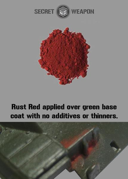 Secret Weapon Miniatures: Weathering Pigments: Rust Red