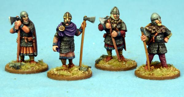 SAGA: Anglo-Danish: Huscarls with axes - Standing (Hearthguard)