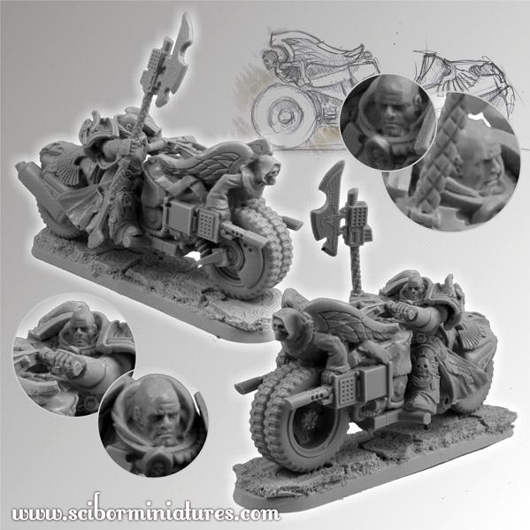 Scibor Monstrous Miniatures: SF Knights Motorcycles Set