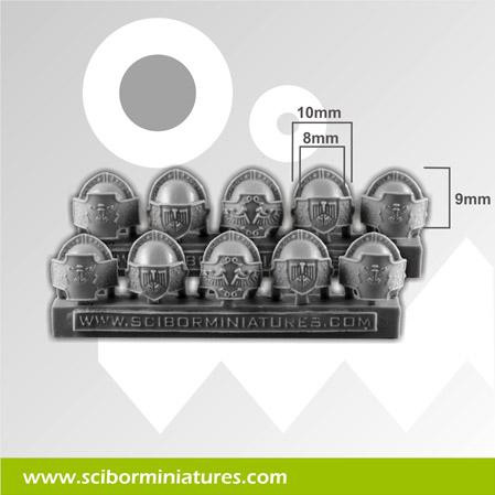 Scibor Monstrous Miniatures: SF Roman Legionary Small Shoulder Pads (10)