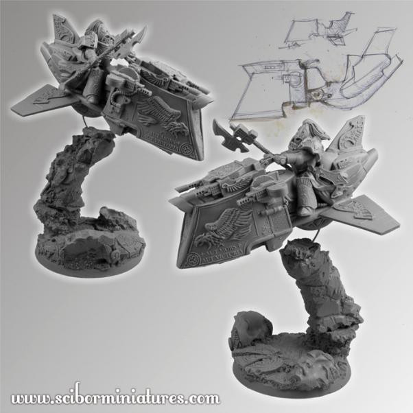 Scibor Monstrous Miniatures: SF Roman Legionary on Jet Bike