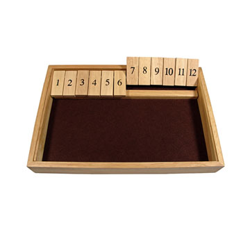 SHUT THE BOX 13 1/2 X 9""