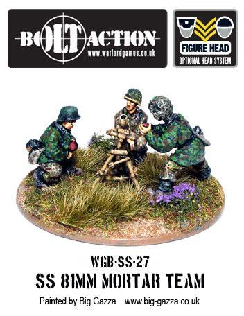 Bolt Action: German: Waffen SS 81mm Medium Mortar