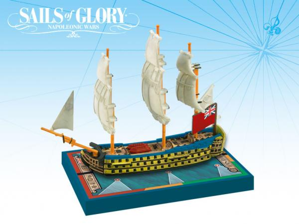 Sails of Glory: British Ship Of The Line: HMS Royal George 1788 [Damaged]