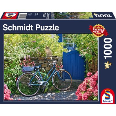 Schmidt Spiele Puzzle: Country Outing By Bike  (1000 Pieces) [Damaged]