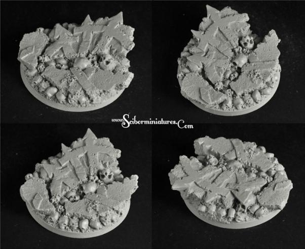 Scibor Monstrous Miniatures: Bases: Cursed Earth (60mm)