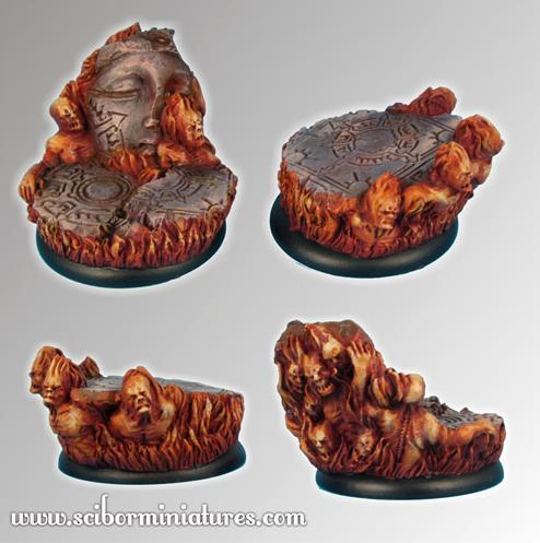 Scibor Monstrous Miniatures: Bases: Straight from Hell (40mm)