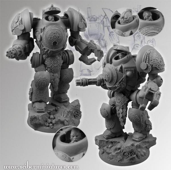 Scibor Monstrous Miniatures: Celtic SF Torin Mech Suit