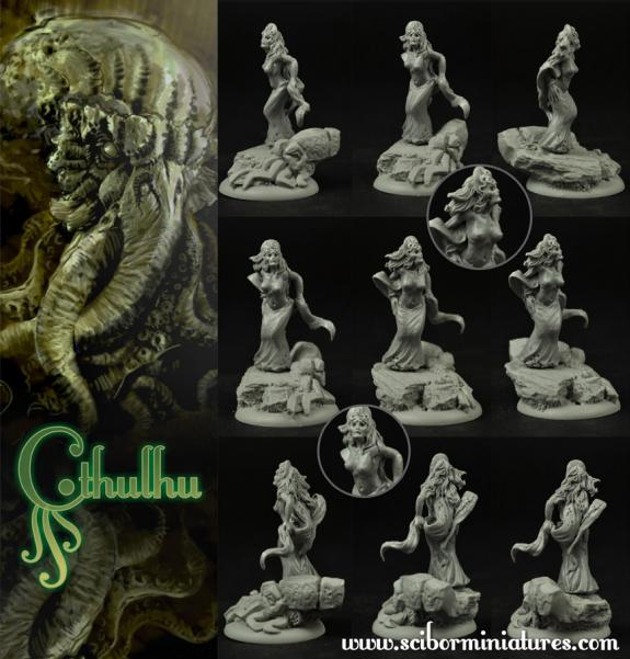 Scibor Monstrous Miniatures: Cthulhu Miniatures: Cthulhu Cultist #3