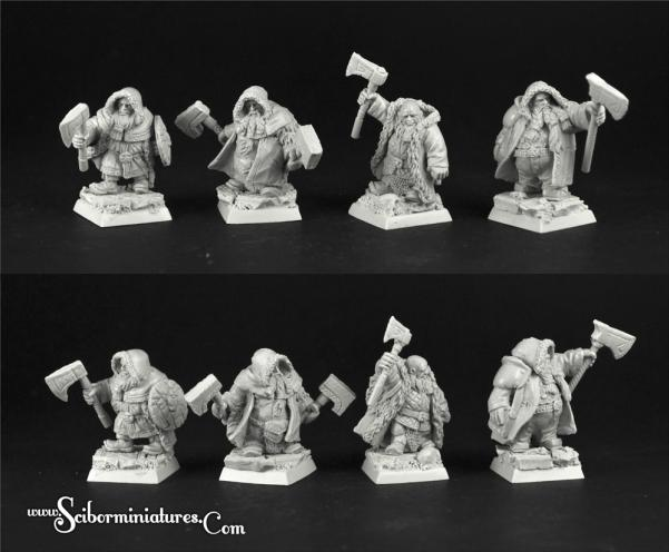 Scibor Monstrous Miniatures: Dwarves Rangers Set #2