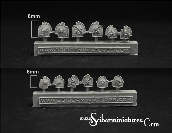 Scibor Monstrous Miniatures: Egyptian Small Shields