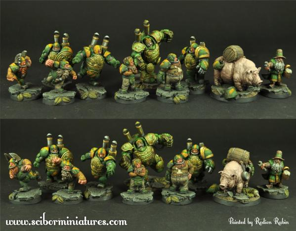 Scibor Monstrous Miniatures: Fantasy Football: Dwarves Football Team