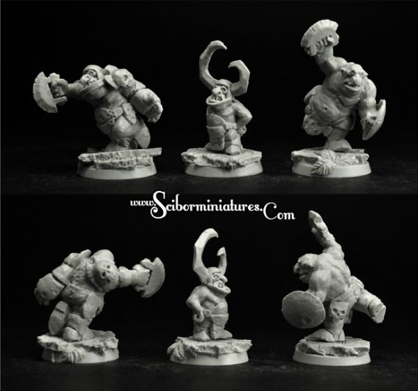 Scibor Monstrous Miniatures: Fantasy Football: Goblins Players Set (3)