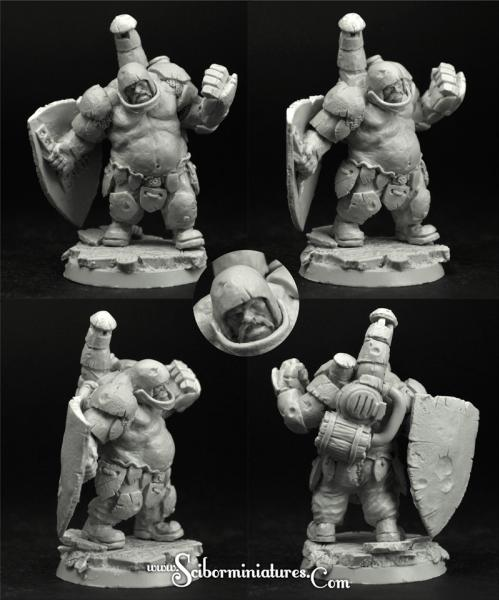 Scibor Monstrous Miniatures: Fantasy Football: Ogre Football Player #1