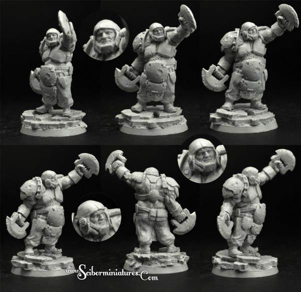 Scibor Monstrous Miniatures: Fantasy Football: Ogre Football Player #2