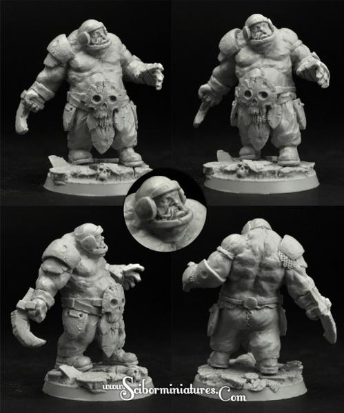 Scibor Monstrous Miniatures: Fantasy Football: Ogre Football Player #3