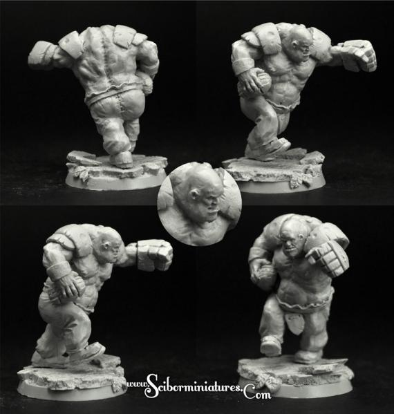Scibor Monstrous Miniatures: Fantasy Football: Ogre Football Player #4
