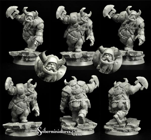 Scibor Monstrous Miniatures: Fantasy Football: Ogre Football Player #6